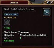 Dark Pathfinder's Bracers