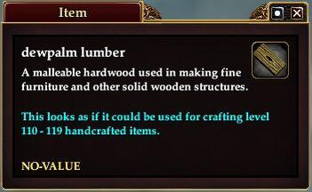 Dewpalm lumber