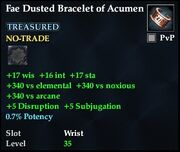 Fae Dusted Bracelet of Acumen