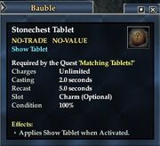 Stonechest Tablet