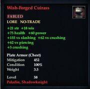 Wish-Forged Cuirass