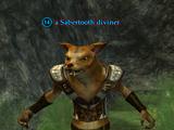 A Sabertooth diviner (Blackburrow)