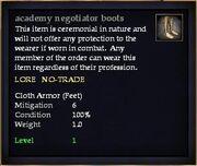 Academy negotiator boots