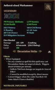 Aetheral shard Warhammer