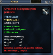 Awakened Scaleguard plate gauntlets