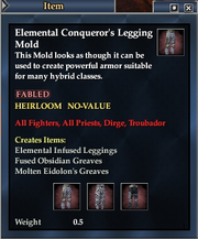 Elemental Conqueror's Legging Mold