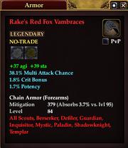 Rake's Red Fox Vambraces