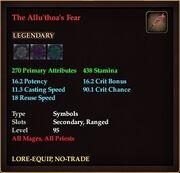The Allu'thoa's Fear