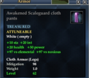 Awakened Scaleguard cloth pants