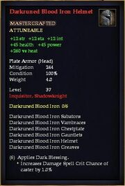 Darkruned Blood Iron Helmet