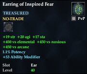 Earring of Inspired Fear