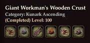 Giant Workman's Wooden Crust
