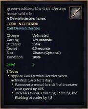 Green-saddled Dervish Destrier horse whistle