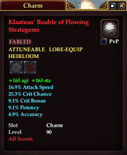 Klaatuus' Bauble of Flowing Strategems
