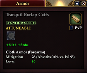 Tranquil Burlap Cuffs