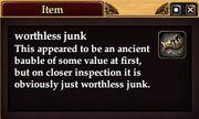 Worthless junk
