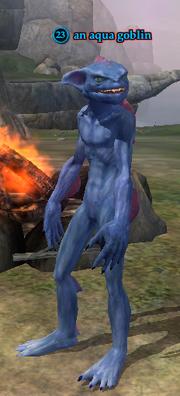 An aqua goblin