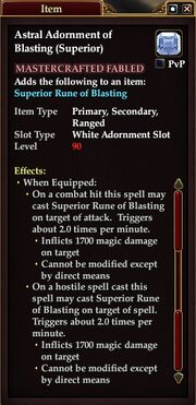 Astral Adornment of Blasting (Superior)