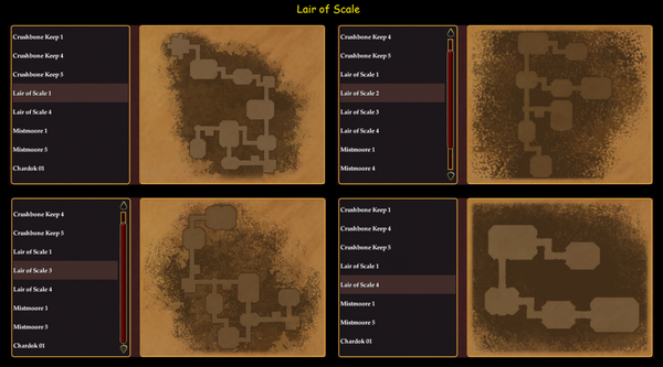 Dungeon Maker Lair of Scale Maps