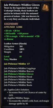 Jale Phlintoe's Wildfire Gloves