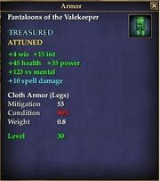 Pantaloons of the Valekeeper