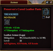 Preserver's Cured Leather Pants