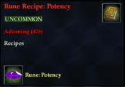 Rune Recipe- Potency