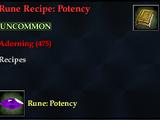 Rune Recipe: Potency