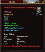 Shield of Industrious Slamming