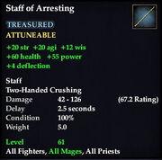 Staff of Arresting