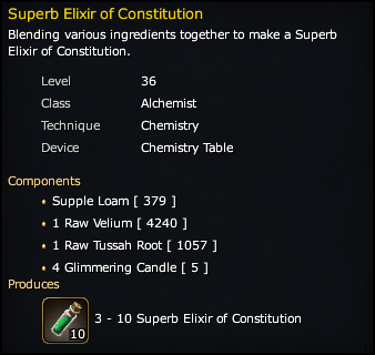 Superb Elixir of Constitution Recipe