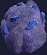 Topaz stone cluster (Visible)