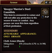 Vesspyr Warrior's Steel Gauntlets