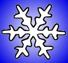 White and Blue Snowflake