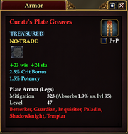 Curate's Plate Greaves