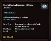 Electrified Adornment of Extra Attacks