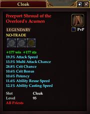 Freeport Shroud of the Overlord's Acumen