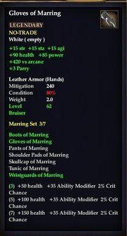 Gloves of Marring