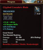 Glyphed Crusader's Blade