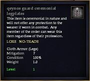 Qeynos guard ceremonial legplates