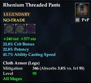 Rhenium Threaded Pants