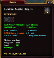 Righteous Sanctus Slippers