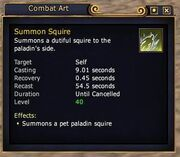 Summon Squire