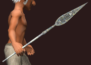 Ancient Ebon Leafblade (Equipped)