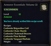 Armorer Essentials Volume 22