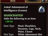 Astral Adornment of Intelligence (Lesser)