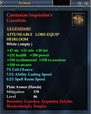 Caertaxian Inquisitor's Gauntlets