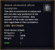 Dismal ceremonial officer breastplate