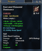 Enervated Elemental Dominance