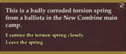 Examine corroded spring